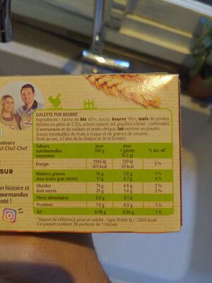 galettes st michel - Informations nutritionnelles - fr