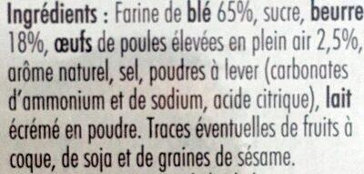 Galettes Au bon beurre - Ingrédients - fr