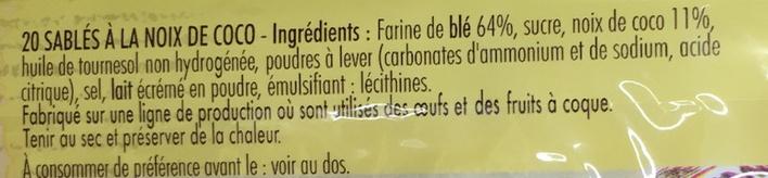 Sablé de Retz - Ingrediënten - fr