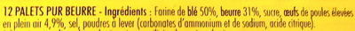 Roudo, au beurre Français - Ingrédients