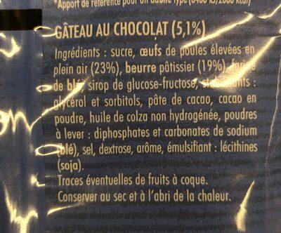Savaroises au chocolat - Ingrédients - fr