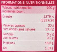 Rillettes du Mans La Véritable - Nutrition facts - fr