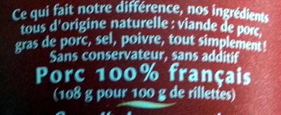 La Véritable (+ 10 % Gratuit) - Ingredients - fr