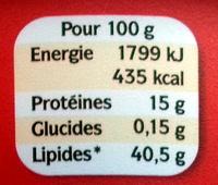 La Véritable (+ 10 % Gratuit) - Nutrition facts - fr