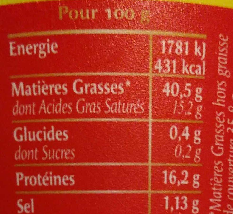 Rillettes du Mans - La véritable - Informations nutritionnelles