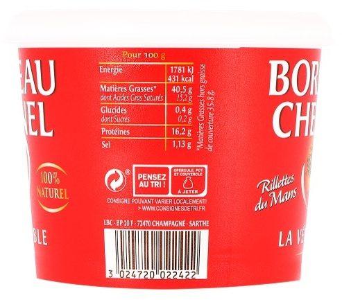 Rillettes du Mans Bordeau Chesnel - Informations nutritionnelles - fr