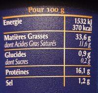 Fines rillettes Canard - Informations nutritionnelles - fr