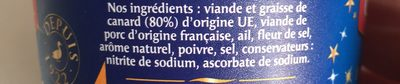 Les Exquises Rillettes de Canard - Ingrédients - fr