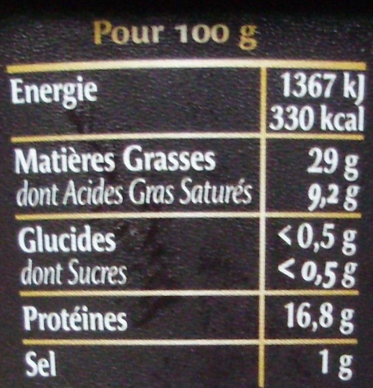 Rillettes de Poulet Rôti en Cocotte (+ 10 % Gratuit) - Informations nutritionnelles - fr