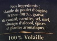 Rillettes Poulet rôti - Ingredients - fr