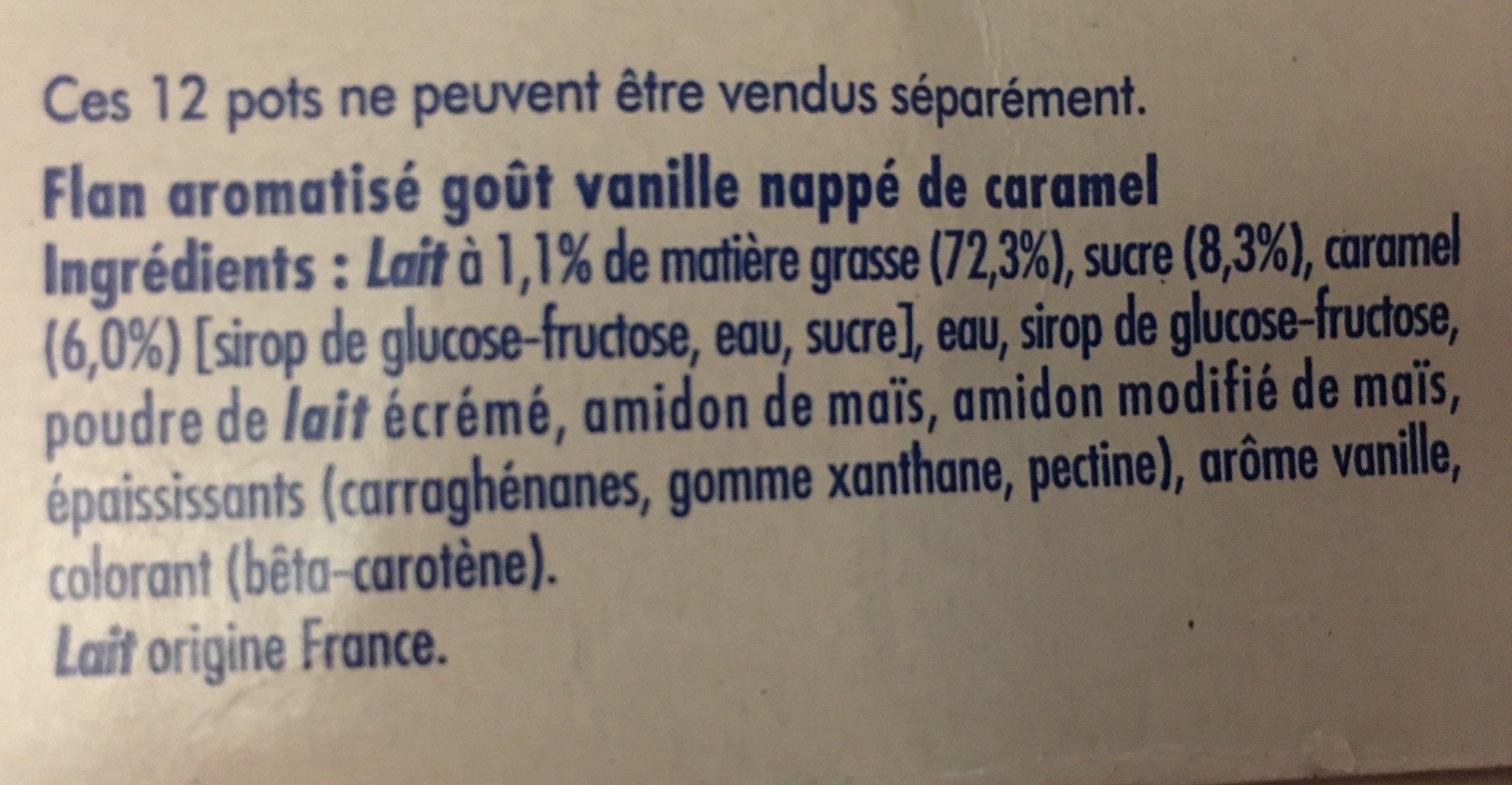 Flamby - Ingrediënten - fr