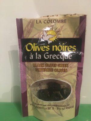 Olives Noires à La Grecque La Colombe - Informations nutritionnelles
