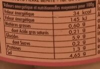 Mini Citron Beldi - Nutrition facts - fr