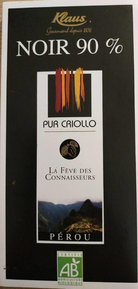 Noir 90% pur Criollo - Produit - fr