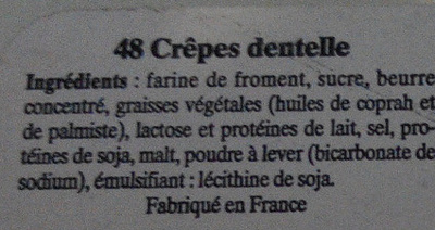 Les Gavottes - Ingrediënten - fr