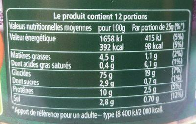 Bretzel Sport - Informations nutritionnelles - fr