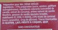 Crème Brûlée (2 sachets) - Ingrediënten