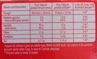 Fan entremets parfum vanille - Nutrition facts - fr