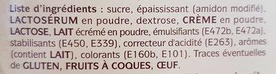 Crème pâtissière à froid Premium - Ingrédients - fr