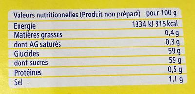 Ancel Priz Extra - Informations nutritionnelles