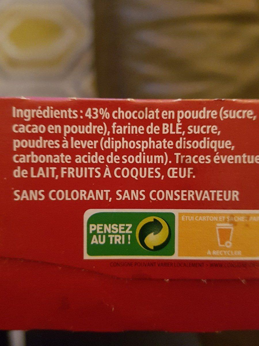 Mon Fondant au chocolat - Ingrediënten - fr