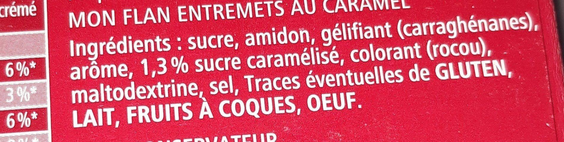 Mon Flan Entremets au Caramel - Ingredients - fr