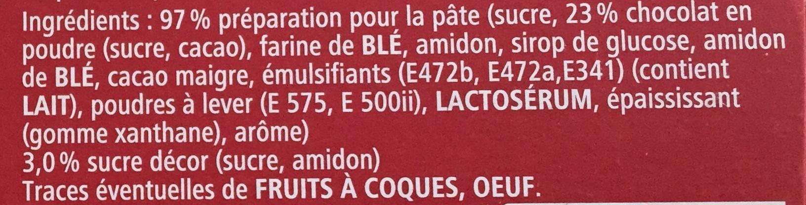Mon Coeur de Nuage Chocolat - Ingredients