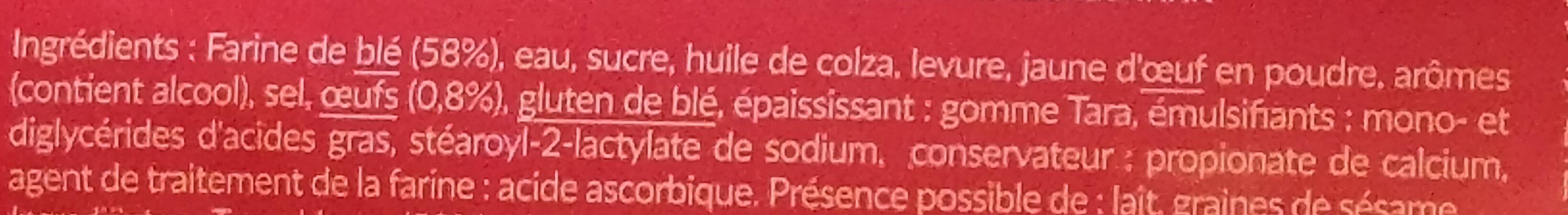 Toasts ronds brioché - Ingrediënten - fr