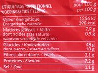 Toasts ronds brioché - Voedingswaarden - fr