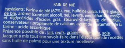 Mini Toasts Nature - Ingredienti - fr