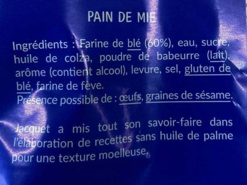 Pain de mie Nature maxi 550G - Ingredients