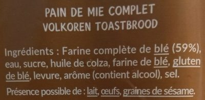 Crousti Moelleux Complet - Ingrédients - fr