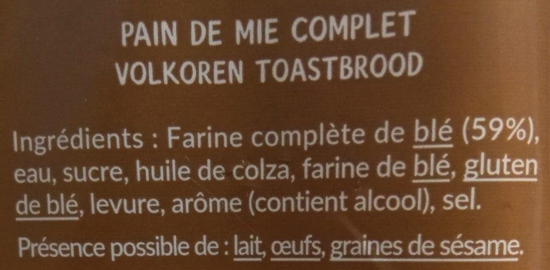 Crousti Moelleux Complet - Ingrediënten - fr