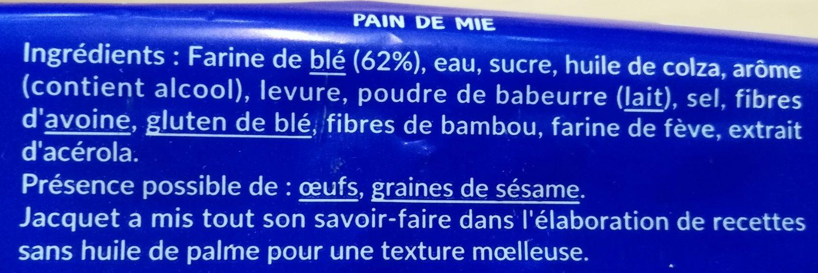 Tartine P'tit Déj Nature (14 tranches) - Ingredients