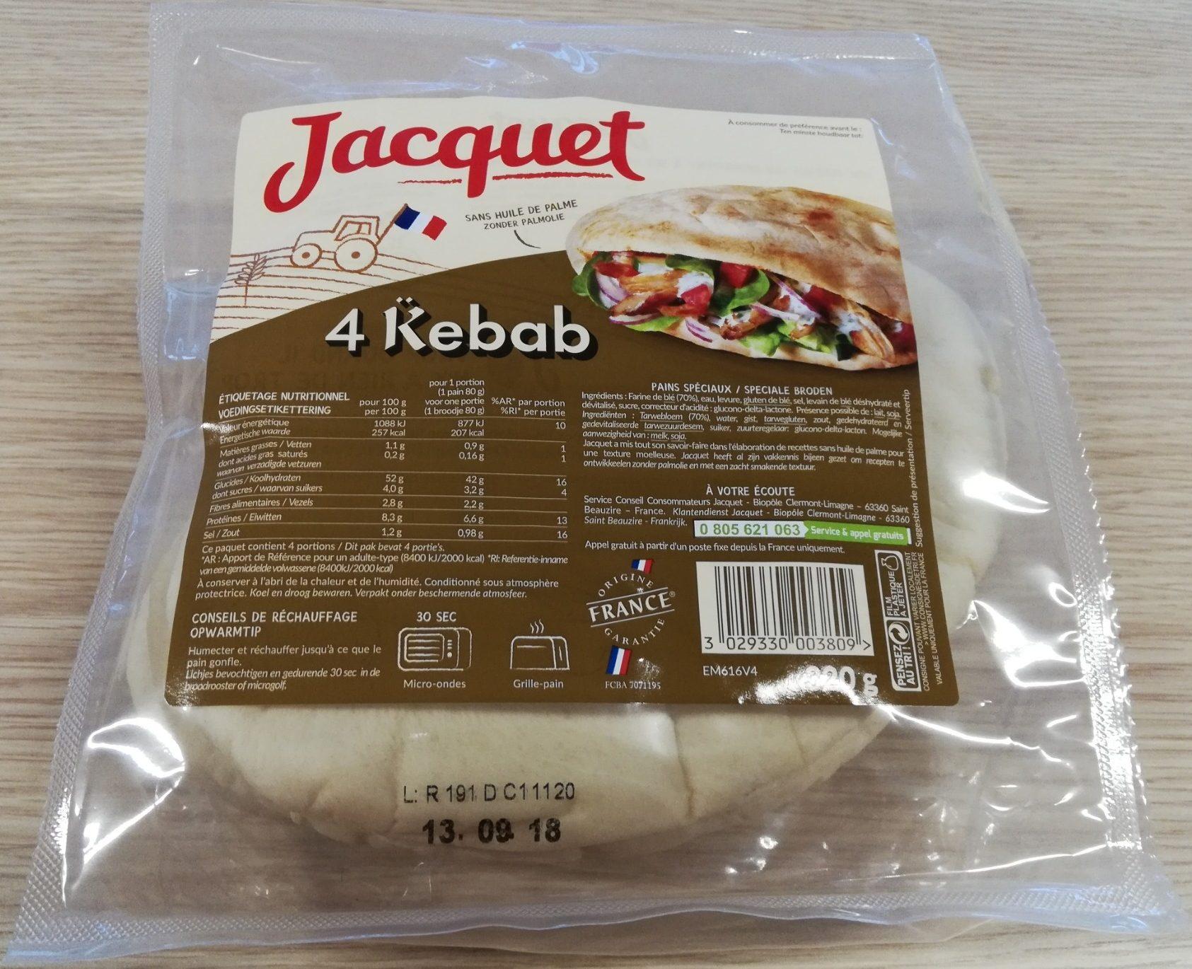 4 Pains Kébab - Produit