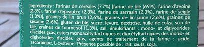 Baguettine 5 céréales - Ingredients - fr