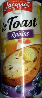 Jacquet le toast raisin - Produit
