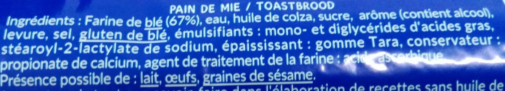 Les Toasts Nature - Ingrediënten - fr