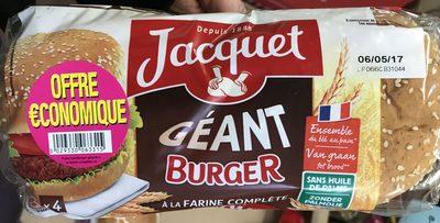 Géant Burger à la farine complète (offre économique) - Produit - fr