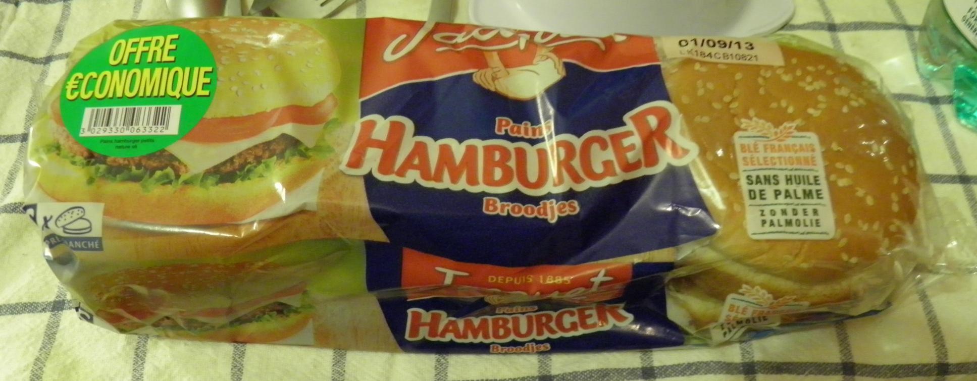 Jacquet Pains Hamburger - Produit