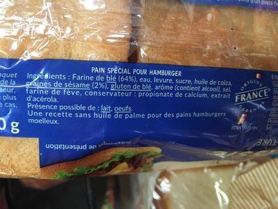 Jacquet Pains Hamburger - Ingrédients