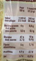 Carrément mie complet - Informations nutritionnelles - fr