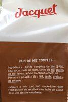 21 Maxi Tranches Complet - Ingrediënten - fr