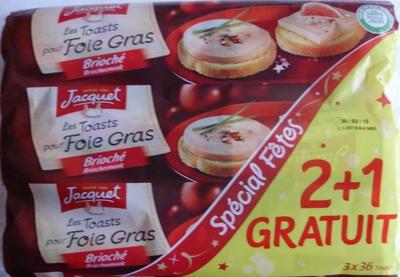 Les Toasts pour Foie Gras Brioché (2 + 1 Gratuit) - (3 x 36 Toasts) - Product