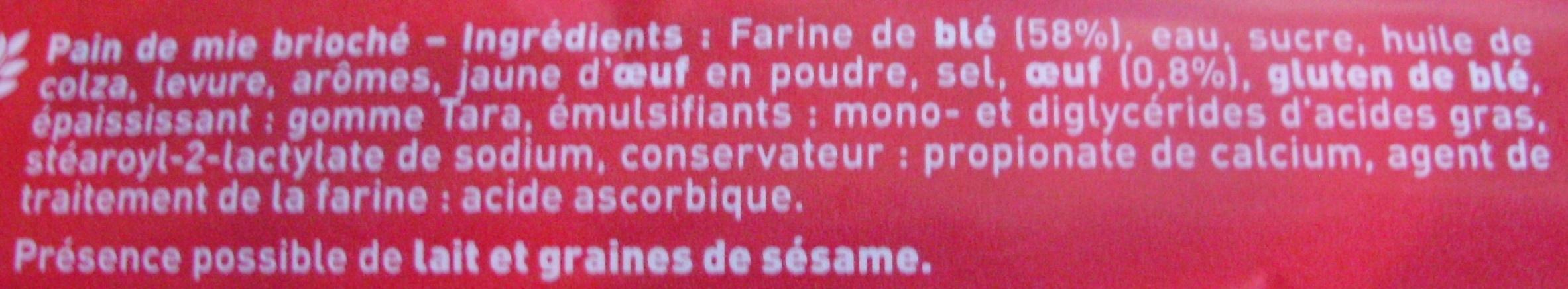 Les Toasts pour Foie Gras Brioché (2 + 1 Gratuit) - (3 x 36 Toasts) - Ingrediënten