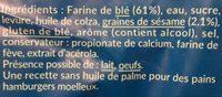 Pain Burger Géant - Ingrédients