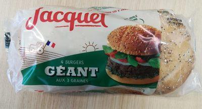 Géant - burger aux 3 graines - Prodotto