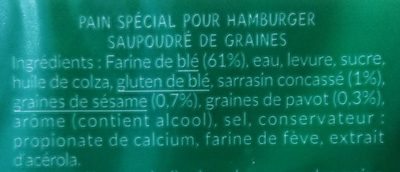 Géant - burger aux 3 graines - Ingredienti - fr