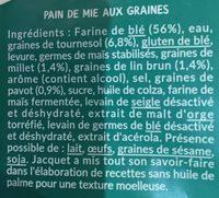 Pavé Aux Graines - Ingrédients - fr