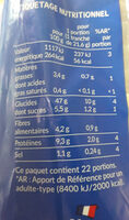 PAIN DE MIE NATURE PETITES TRANCHES SANS CROUTE SSA 475 Gr - Informations nutritionnelles - fr